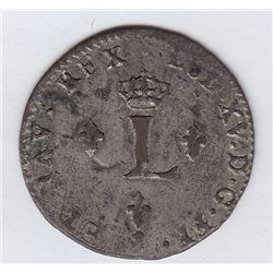 Br 508. Billon Double Sol of 24 Deniers. 1758/4. (Paris).