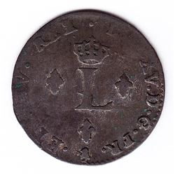 Br 508. Billon Double Sol of 24 Deniers. 1759/8/4. (Paris).