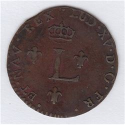 Br 508. Billon Double Sol of 24 Deniers. 1760 A. (Paris).
