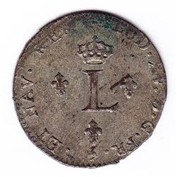 Br 508. Billon Double Sol of 24 Deniers. 1761 A. (Paris).