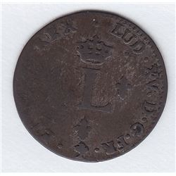 Br 508. Billon Double Sol of 24 Deniers. 1764 A. (Paris).