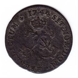 Br 508. Billon Double Sol of 24 Deniers. 1744 H. (La Rochelle).