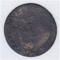 Br 508. Billon Double Sol of 24 Deniers. 1739 I. (Limoges).