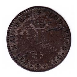 Br 508. Billon Double Sol of 24 Deniers. 1739 K. (Bordeaux).