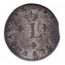 Br 508. Billon Double Sol of 24 Deniers. 1740 O. (Riom).