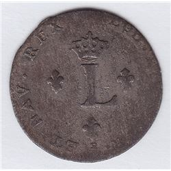 Br 508. Billon Double Sol of 24 Deniers. 1744 P. (Dijon).