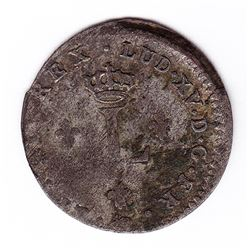 Br 508. Billon Double Sol of 24 Deniers. 1739 S. (Reims).