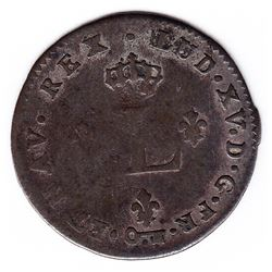 Br 508. Billon Double Sol of 24 Deniers. 1740 S. (Reims)