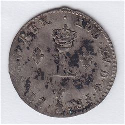 Br 508. Billon Double Sol of 24 Deniers. 1739 V. (Troyes).