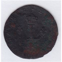 Br 508. Billon Double Sol of 24 Deniers. 1740 V. (Troyes)
