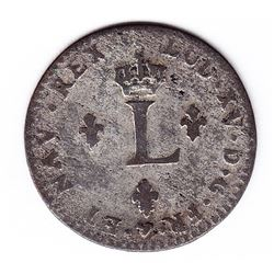 Br 508. Billon Double Sol of 24 Deniers. 1741 W. (Lille).
