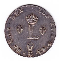 Br 508. Billon Double Sol of 24 Deniers. 1743 L. (Lille).