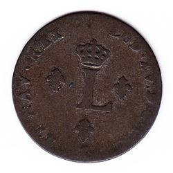 Br 508. Billon Double Sol of 24 Deniers. 1746 W. (Lille).  An Unrecorded Variety