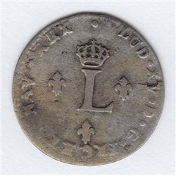 Br 508. Billon Double Sol of 24 Deniers. 1739 Z. (Grenoble).