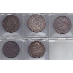 Central America Crowns - Lot of 5