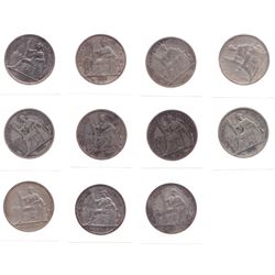 French Indo-China Piastre - Lot of 11