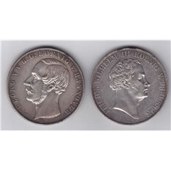 Germany - Lot of 2 Doube Thalers