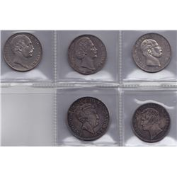 Germany - Lot of 5 Thalers