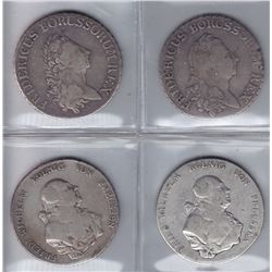 Germany Prussia 18th Century Thalers - Lot of 4