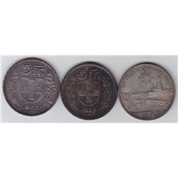 Switzerland 5 Francs - Lot of 3