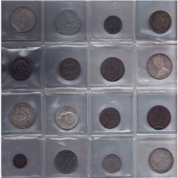 World Coins & Tokens - Lot of 16