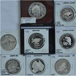 World Silver Coins - Lot of 8