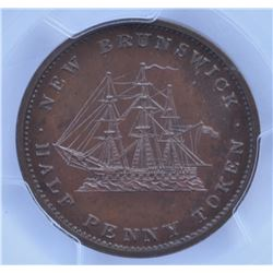 New Brunswick Half Penny & One Penny Proofs, 1843