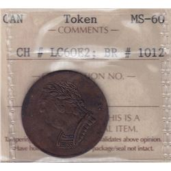 Lower Canada Tiffin Token, 1820