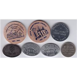 Canada West Communion Tokens - Lot of 7