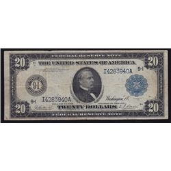 1914 United States of Amercia $20 Federal Reserve Note