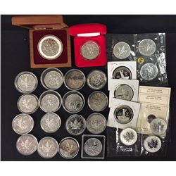 $5 RCM Silver Maple Leaf Series - Lot of 27