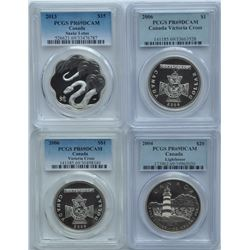 Lot of Four Modern Proof PCGSGraded Coins