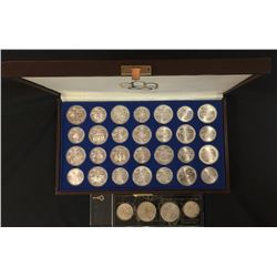 Set of 28 Silver Proof Cdn. 1976 Olympic Coins