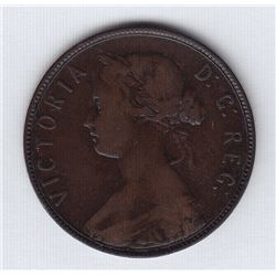1880 Oval 0 Newfoundland One Cent