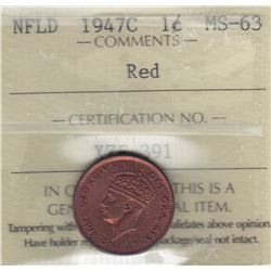 1947C Newfoundland One Cent