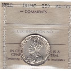 1919C Newfoundland Twenty Five Cents