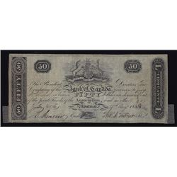 Bank of Canada $50, 1818, Montreal, Contemporary Counterfeit