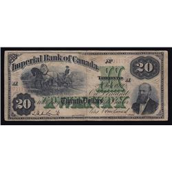 Imperial Bank of Canada, $20, 1920, Contemporary Counterfeit