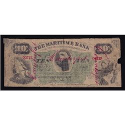 Maritime Bank of the Dominion of Canada, $10, 1881, Contemporary Counterfeit
