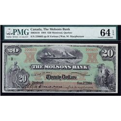 Molsons Bank $20, 1904 - Trophy Note
