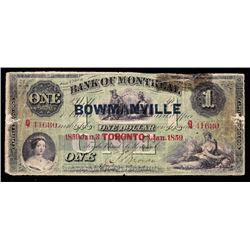 Bank of Montreal $1, 1859 - Discovery Note