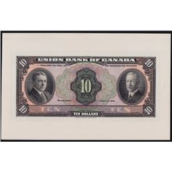 The Union Bank of Canada $10, 1921