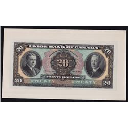 The Union Bank of Canada $20, 1921
