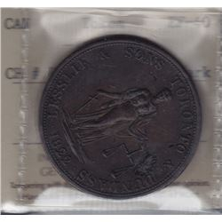 TOKENS OF UPPER CANADA - Br 717.  McL 31.  Lesslie Twopence.