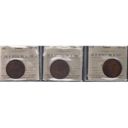 TOKENS OF UPPER CANADA - Group of three ICCS-graded sloops.