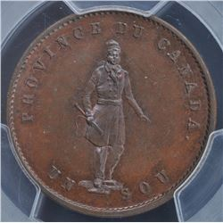 Province of Canada ½ Penny Token, 1852