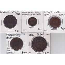 World Tokens Lot of 5