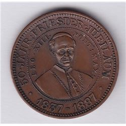 Br 598. Teutonia Club. Pope Leo XIII. 5c.