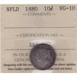 1880 Newfoundland Ten Cents