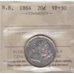 1864 New Brunswick Twenty Cents